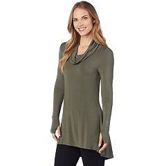 Women's Cuddl Duds Softwear Cowlneck Tunic Top
