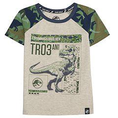 Boys 4-7x Jurassic World: Fallen Kingdom 'Tyrannosaurus Rex TR03' Dinosaur Camo Raglan Graphic Tee