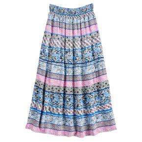 Girls 7-16 Joey B Tiered Gauze Maxi Skirt