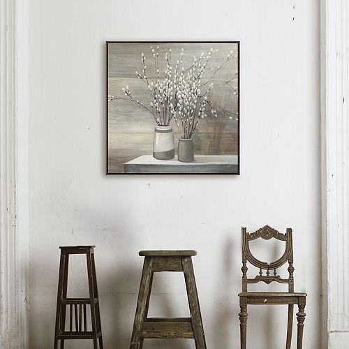 Artissimo Designs Willow Still Life Framed Canvas Wall Art