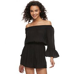 Juniors' Mudd® Off The Shoulder Romper