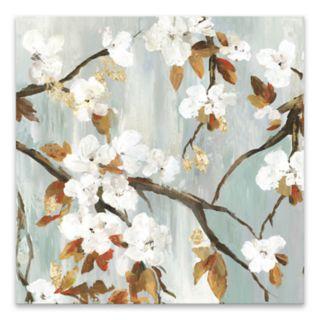 Artissimo Designs Golden Blooms II Canvas Wall Art