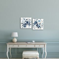 Artissimo Designs Indigo Garden Canvas Wall Art 2-piece Set