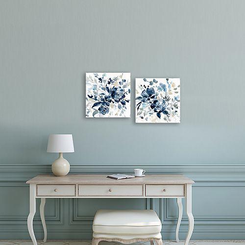 Artissimo Designs Indigo Garden Canvas Wall Art 2-piece Set