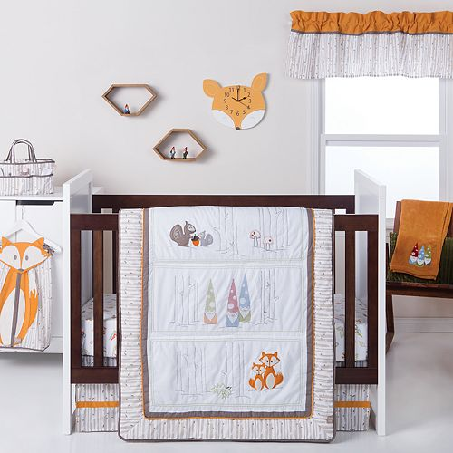 Trend Lab Gnome 4 Piece Crib Bedding Set