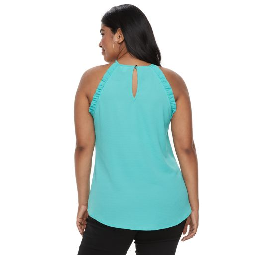 Plus Size Candie's® Ruffle Halter Top