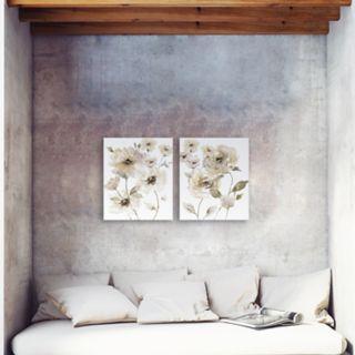 Artissimo Designs Translucent Neutral Canvas Wall Art 2-piece Set