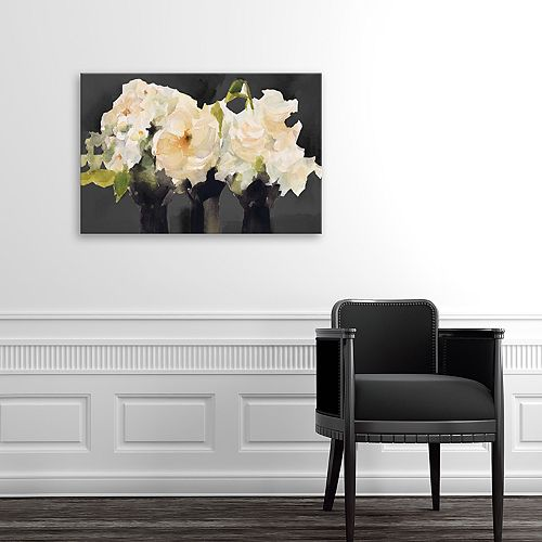 Artissimo Designs From The Greenhouse At Night Canvas Wall Art