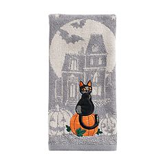 Celebrate Halloween Together  Scenic Cat Hand Towel