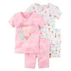 Girls 4-12 Carter's 'Mermaids Don't Have Bedtimes' Tops & Shorts Pajama Set