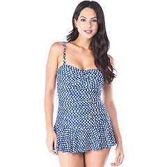 Women's Chaps Tummy Slimmer Bandeau Swimdress