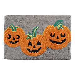 Celebrate Halloween Together  Pumpkins Bath Rug