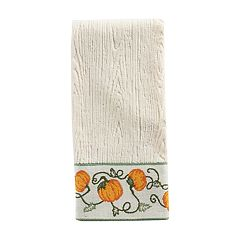 Celebrate Fall Together Pumpkin Border Hand Towel
