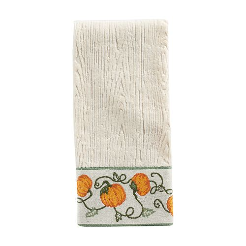 Celebrate Fall Together Pumpkin Border Hand Towel