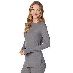 Women's Cuddl Duds Strecth Thermal Crewneck Top