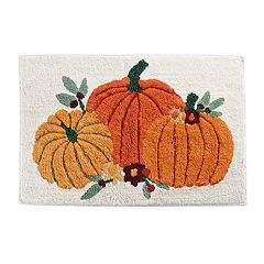 Celebrate Fall Together Pumpkin Trio Bath Rug
