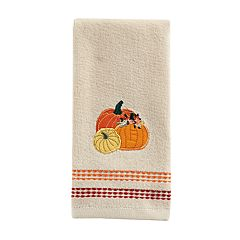 Celebrate Fall Together Pumpkins Trio Fingertip Towel