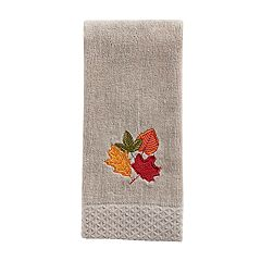 Celebrate Fall Together Leaves Fingertip towel