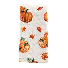 Celebrate Fall Together Printed Pumpkin Trio Fingertip Towel