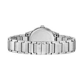 Bulova Women's TurnStyle Crystal Stainless Steel Watch - 96L257