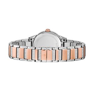 Bulova Women's TurnStyle Crystal Two Tone Stainless Steel Watch - 98L246