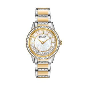 Bulova Women's TurnStyle Crystal Two Tone Stainless Steel Watch - 98L245