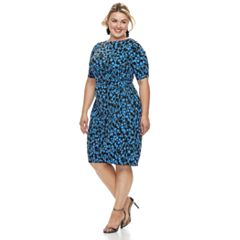 Plus Size Suite 7 Print Sheath Dress