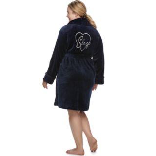 Plus Size SONOMA Goods for Life? Short Plush Robe