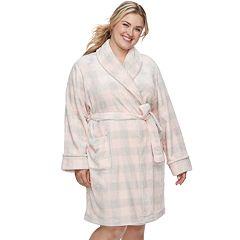 Plus Size SONOMA Goods for Life™ Short Plush Robe