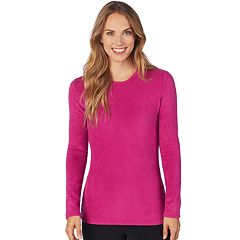 Women's Cuddl Duds Fleecewear Crewneck Top
