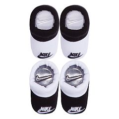 Baby Boy Nike 2-pack White & Black Booties