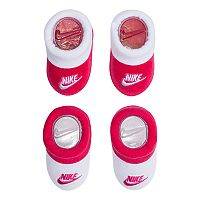 Baby Girl Nike 2-pack Pink & White Booties