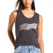 Women's Levi's® Wavy Flag Graphic Muscle Tank
