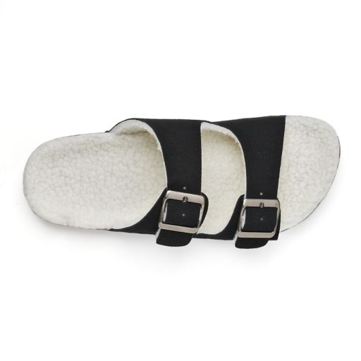 Women's Olivia Miller Sherpa-Lined Double Buckle Cork Sandals