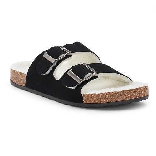 Women's Olivia Miller ... Sherpa-Lined Double Buckle Cork Sandals ebay sale online 6ieJW1