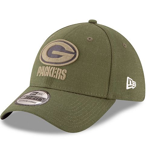 73a64534 Adult New Era Green Bay Packers Salute to Service 39THIRTY Flex ...