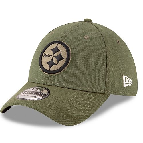 Adult New Era Pittsburgh Steelers Salute to Service 39THIRTY Flex-Fit Cap bfd838bd609