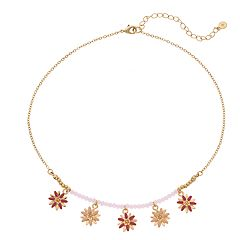 LC Lauren Conrad Beaded Flower Charm Necklace