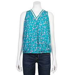 Juniors' Grayson Threads Printed Wrap Tank