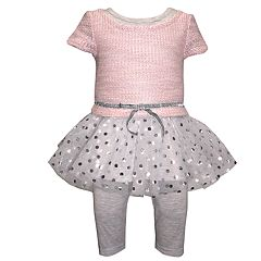 Girls 4-6x Blueberi Boulevard Drop-Waist Tulle Dress & Leggings Set