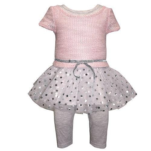 Girls 4-6x Blueberi Boulevard Drop-Waist Tulle Dress & Leggings Set