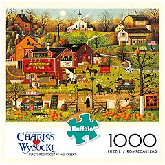 Buffalo Games 1000-Piece Charles Wysocki: Blackbirds Roost at Mill Creek Puzzle