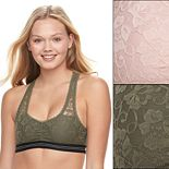 Juniors' Wallflower 2-Pack Gabby Sporty Lace Bralette JC3002WFA