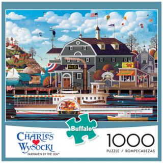 Buffalo Games 1000-Piece Charles Wysocki: Fairhaven by the Sea Puzzle
