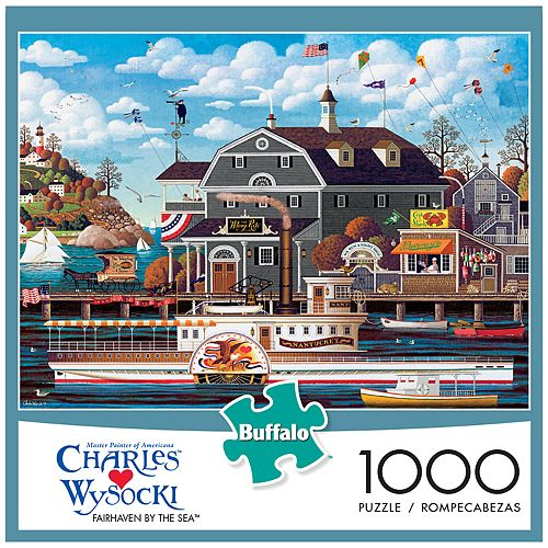 67b7e0f040c70 Buffalo Games 1000-Piece Charles Wysocki  Fairhaven by the Sea Puzzle