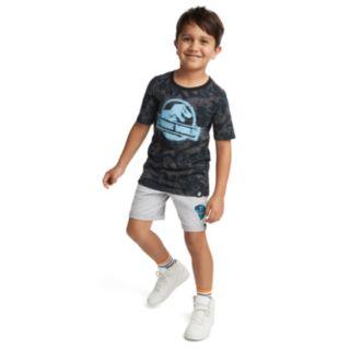 Boys 4-7x Jurassic World: Fallen Kingdom Logo Terry Knit Shorts