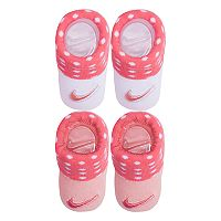 Baby Girl Nike 2-pack Pink & White Dot Booties
