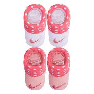 Baby Girl Nike 2-pack Pink & White Dot Booties
