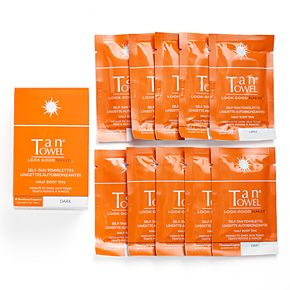 TanTowel Half Body Self-Tan Towelettes - Dark