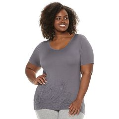 Plus Size Gloria Vanderbilt Graphic Pajama Tee